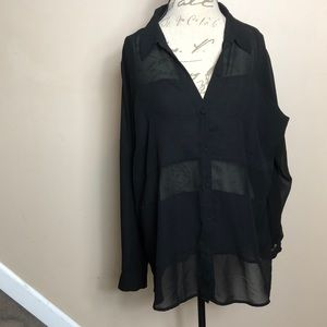 Torrid black sheer blouse